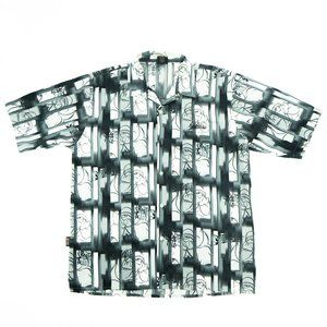 South Pole Men's Button Front Shirt All Over Print